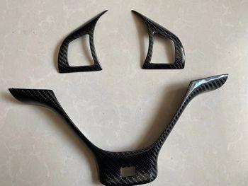 Carbon Fiber Steering Wheel Trim Cover for BMW E70 X5 M sport 2007-2012 B334Y 1