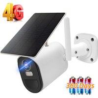 Cámara IP para exteriores 1080P HD 4G, tarjeta SIM, inalámbrica, WiFi, batería integrada, Solar, CCTV, vigilancia, PIR, Monitor de movimiento