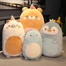 Giant Dinosaur Stuffed Animals Squishmallows Plushie Kawaii Room Decor Pillow Soft Penguin Plush Toys Anime Cushion Girls Gifts