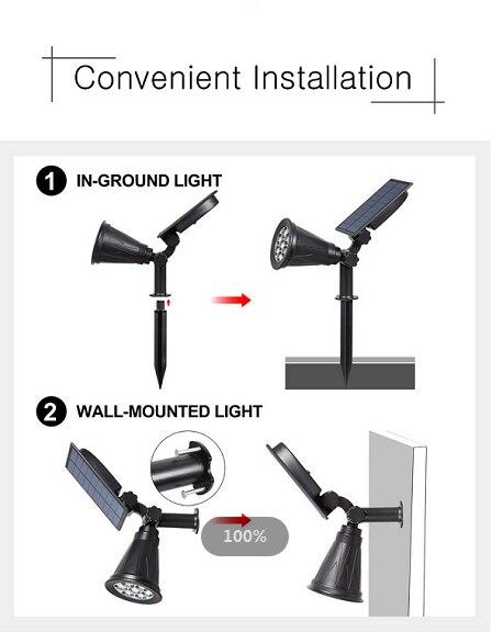 solar luz da lâmpada de parede rgb
