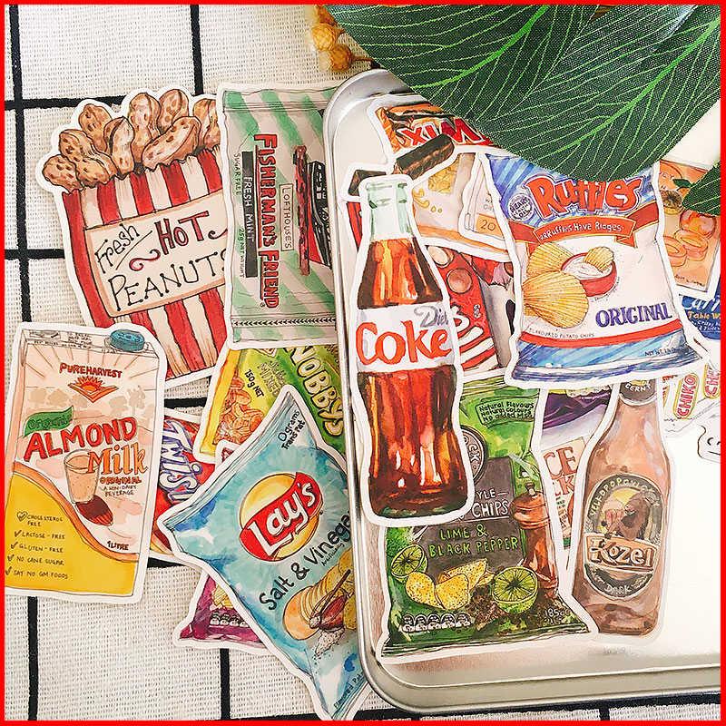 Dış lezzetli aperatifler kişiselleştirilmiş karalama defteri çıkartmaları scrapbooking malzeme kişiselleştirilmiş etiket mutlu planlayıcısı önemsiz dergisi