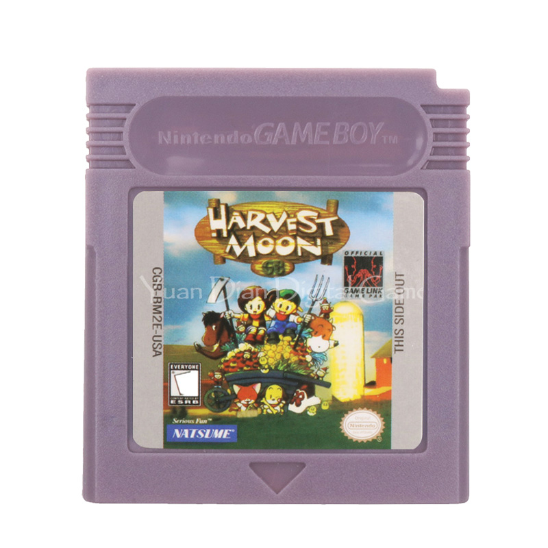 For Nintendo GBC Video Game Cartridge Console Card Harvest Moon English Language Version image