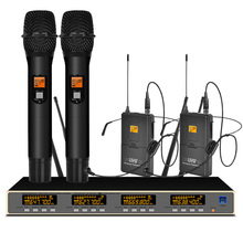 цена на Professional UHF Wireless Microphone System Handheld Microphone Headset Microphone for Stage Microphone Wireless