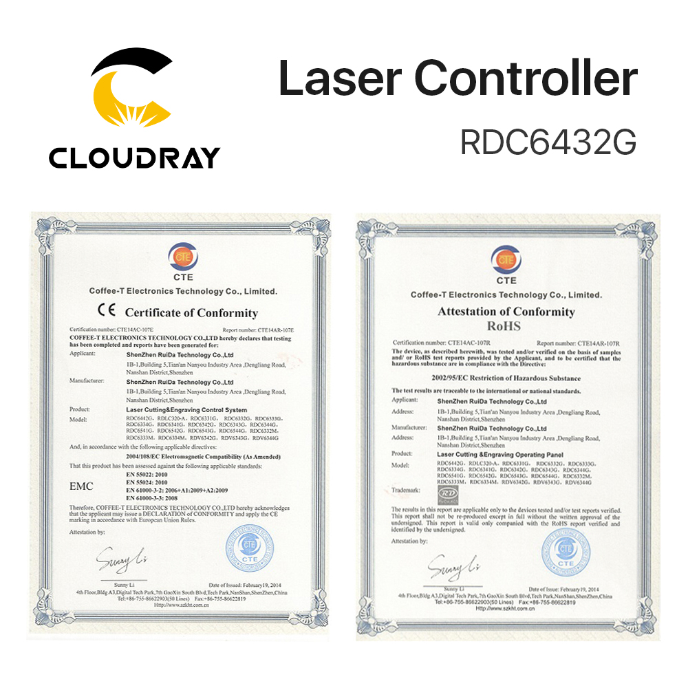 Купить с кэшбэком Clouday Ruida RDC6432 CO2 Laser Controller System for Laser Engraving Cutting Machine Replace AWC708S Ruida 6442S Ruida Leetro