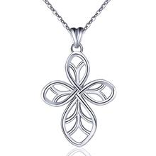 Eudora 100% 925 Sterling Silver Cross Design For Lover Pendant Necklace Sterling-Silver-Jewelry Gift