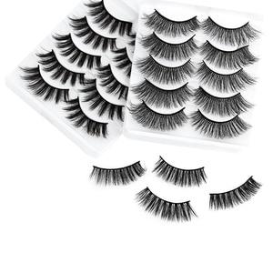 Image 4 - 5 Pairs Multipack 5D Soft Mink Hair False Eyelashes Handmade Wispy Fluffy Long Lashes Nature Eye Makeup Tools Faux Eye Lashes