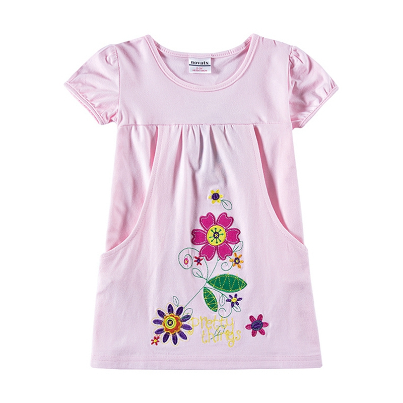 NEAT Summer girl clothes Vestidos para niños para niñas de manga - Ropa de ninos