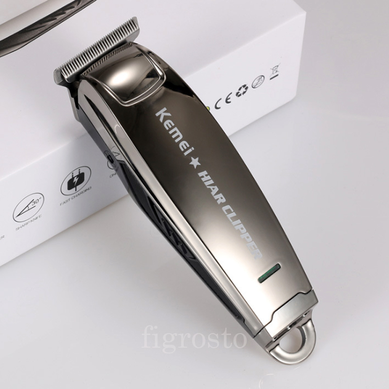 Cordless Barber Clippers KM2812 Mini Salon Shaving Head Machine For Shave Hairs Man 0.1mm Short Zero Gap Small Trimmer For Edges
