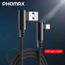 PHOMAX USB Type C 2M 90 Degree Fast Charging usb c cable Type-c data Cord Charger For Samsung S9 S8 Xiaomi mi5 mi6 Huawei  USB C недорого
