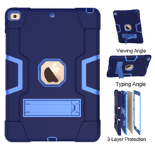 New For iPad 10.2 7th Gen 2019 Case, Rugged Shockproof Heavy Duty Hybrid Three Layer Armor Defender Kids Child Proof Cover