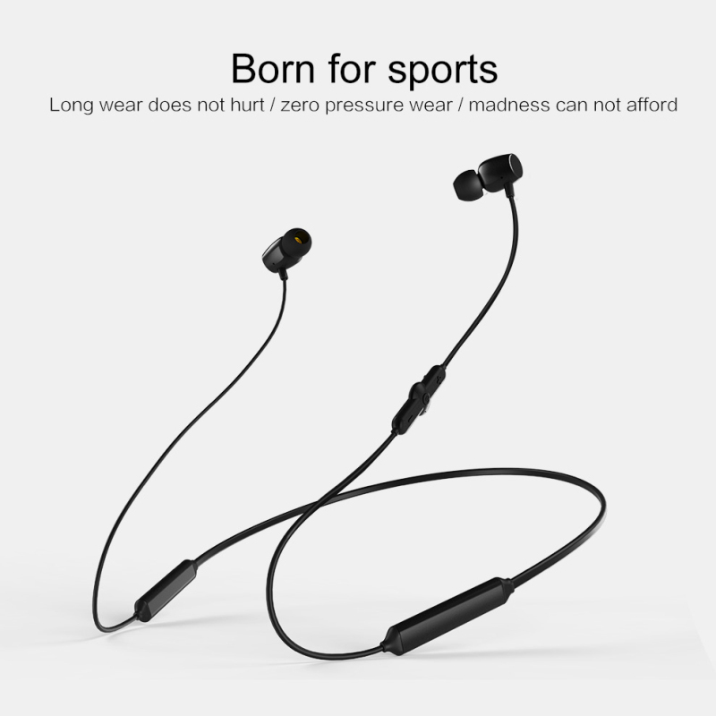 Wireless Bluetooth 5.0 Sport Earphone HiFi Stereo Deep Bass Neck Hanging Headset IPX5 Waterproof Earbud With Mic For IOS Android
