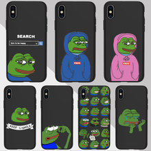 Funny The Frog Pepe face crying happy Couple Phone Case For