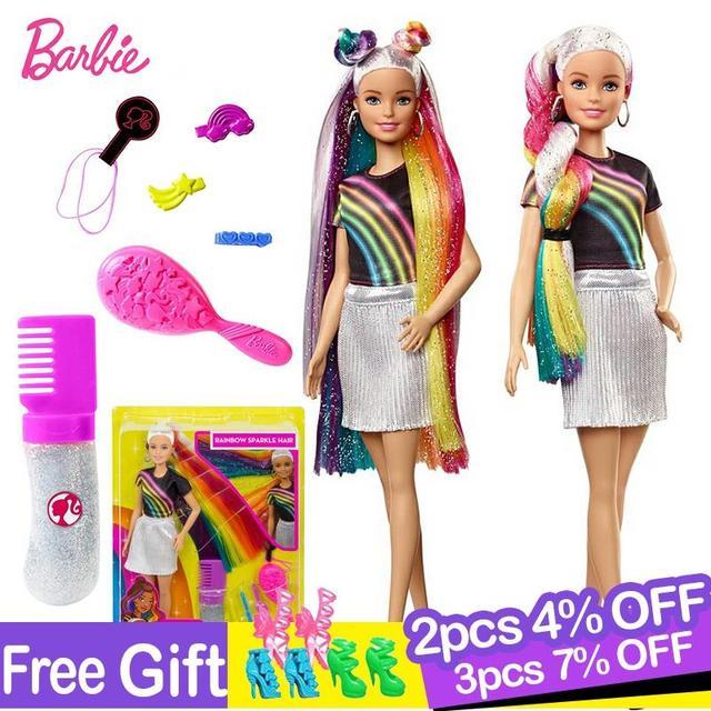 Модная Кукла Барби с радужными блестками, кукла с аксессуарами и одеждой Барби, модные игрушки для девочек, кукла для девочек