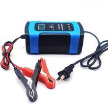 Полностью автоматическая машина для автомобиля Батарея Зарядное устройство 12V 6A ремонт ЖК-дисплей Дисплей Батарея Зарядное устройство для автомобиля мотоцикла свинцово-кислотный Батарея Agm гель мокрый