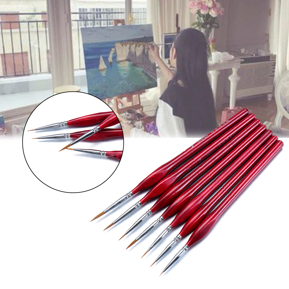 10pcs Children Brush Hobby Painting Tools Accessory Superfine Hook Line Pen、2018
