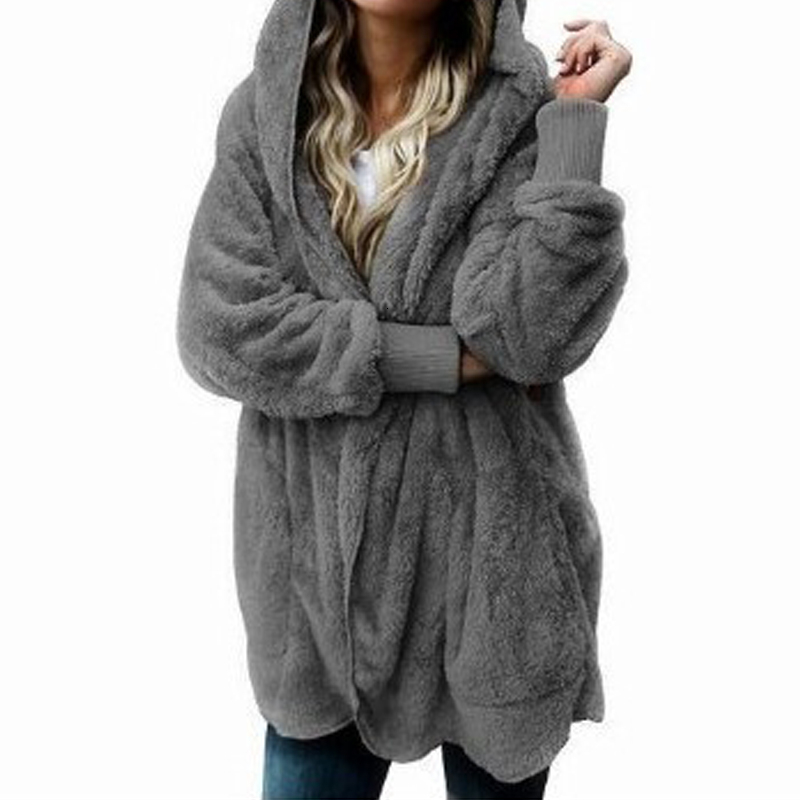 Winter Teddy Coat Women Faux Fur Coat Teddy Bear Jacket Thick Warm Fake Fleece Jacket Fluffy Jackets Jumper Plus Size M-4XL
