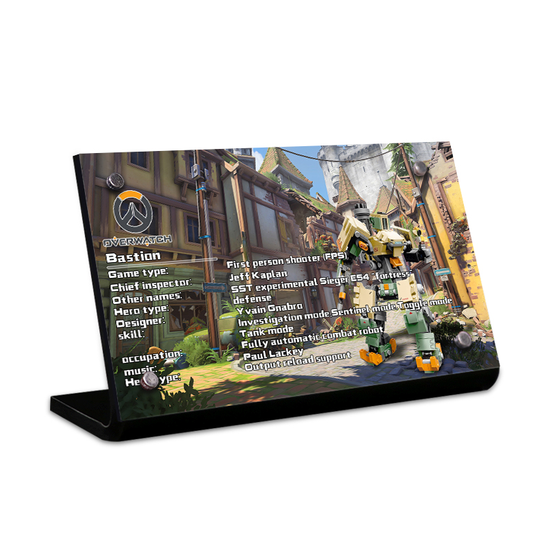 Acrylic Display Stand Brand For Bastion Building Kit 75974 Overwatch Game Robot Action Figu Toys Building Blocks 1