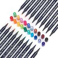 80 цветов, набор маркеров для живописи, двойной наконечник, цветная ручка, мягкая кисть на водной основе, маркер для рисования цветных книг