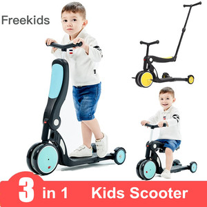 Kids Kick Scooter Kickboard + Tricycle + Balance bike For 1~6 Ages Child Ride On Toy Boy Girl Toddler Scooter Adjustable(China)