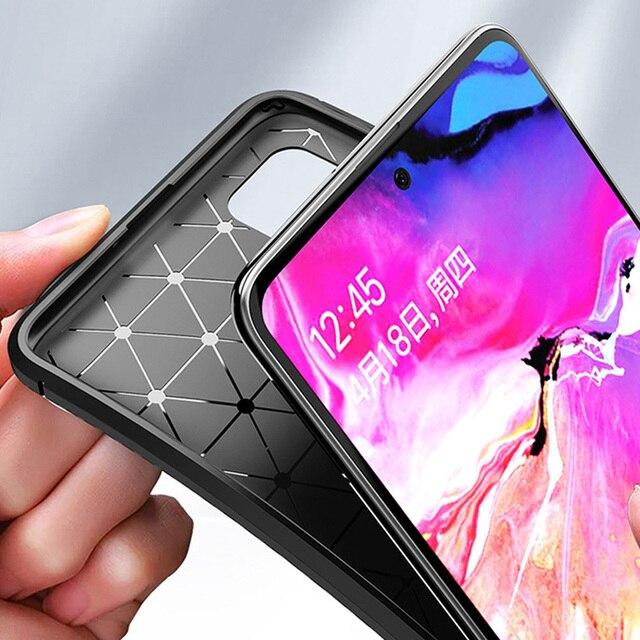Étui pour samsung de téléphone souple A71 A51 housse de protection armure hybride antichoc pare-chocs en Fiber de carbone étui pour samsung Galaxy A51 A71 Funda