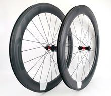 EVO full carbon 700C racefiets wielen 60mm diepte 25mm breedte clincher/Tubular Road Fiets carbon wielen met DT hubs