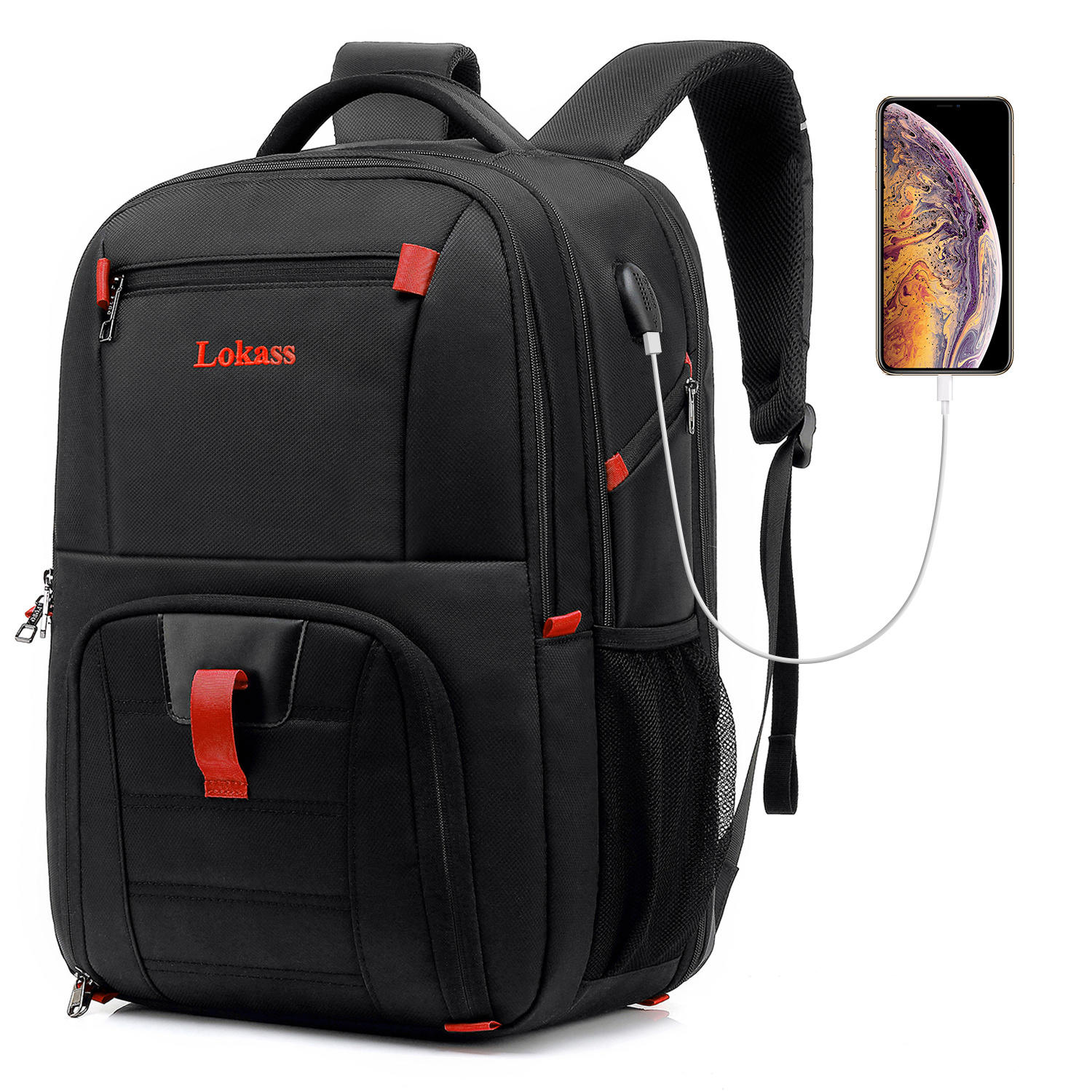 USB Charging Men's Professional Waterproof 15.6 Inch Laptop Backpack Casual Notebook Man Sport Travel Bag Pack Backpack For Male