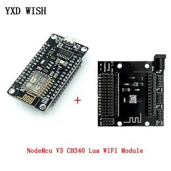 Módulo inalámbrico NodeMcu v3 CH340 Lua WIFI, placa de desarrollo de Internet de las cosas ESP8266 con puerto usb de antena de PCB para Arduino