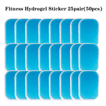 25pair50Pcs Replacement Fitness Gel Stickers Hydrogel Electrode Pad/Patch For EMS Muscle Training Massager ABS Abdominal Trainer 50pairs lot emergency supplies ecg defibrillation electrode patch prompt aed defibrillator trainer accessories not for clinical