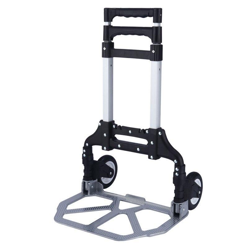Два колеса складной тележка для багажа алюминиевая ручная тележка для багажа легкая ручная тележка для продуктов питания