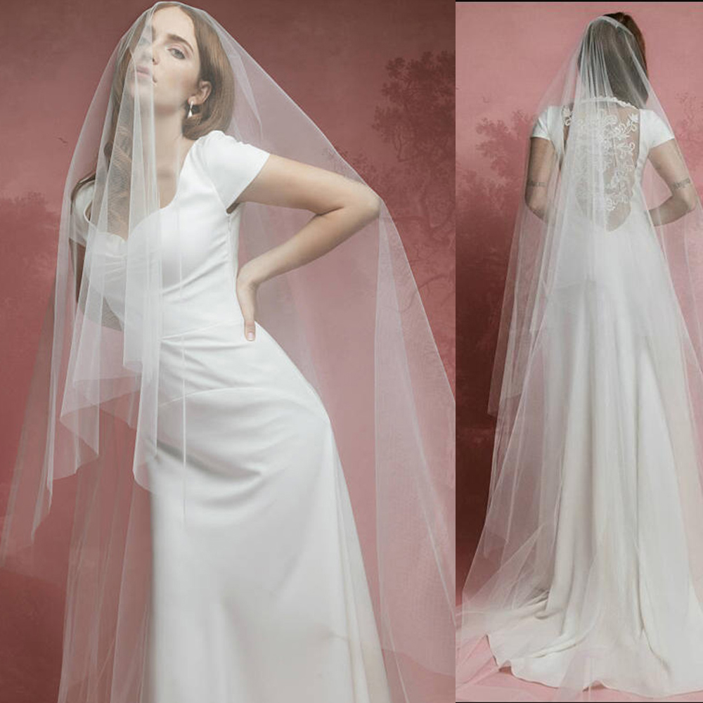 Ivory Wedding Veils Tulle Long Bridal Veil One Layer Bride Party Veils 3 Metre Bridal Veil Party Gifts Wedding Accessories
