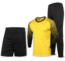 Kids Adult Goalkeeper Soccer Jersey Set Children Men Goalie Football Uniform Sponge Protection Doorkeeper Shirt Pants & Shorts