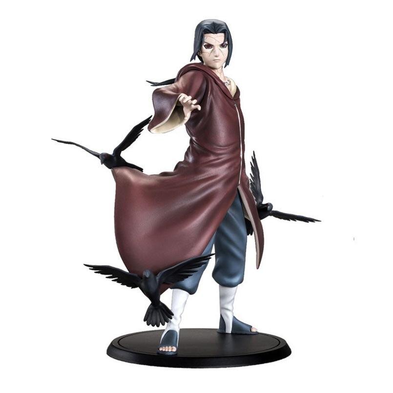 NARUTO Anime Uchiha Itachi figurine jouets Uchiha Sasuke frère Naruto Sharingan Figurines à collectionner modèle jouets cadeau 20 CM
