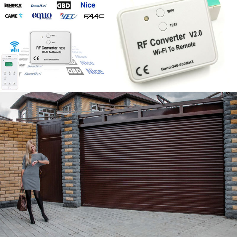 Garage Remote Wifi RF Converter For Fixed Code Learning IOT Ios Android App Control