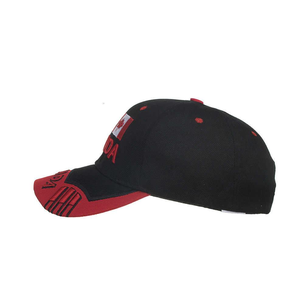 רבים יפה קיץ אני את קנדה הלאומית דגל מייפל עלים רקום בייסבול כובע מצחית כובע שמש כובע B634