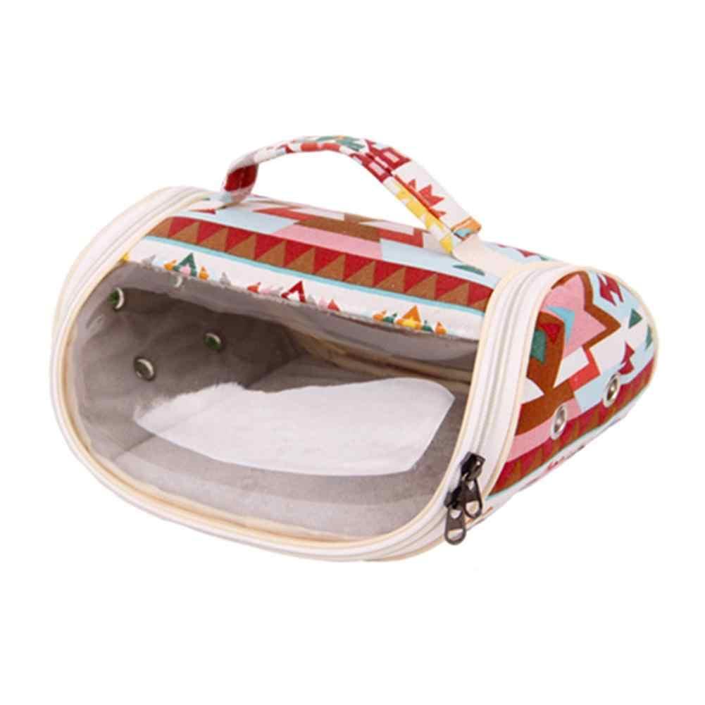 المحمولة الصغيرة حقيبة سفر للحيوانات الأليفة تنفس الهامستر الناقل حقيبة شفافة مرئية في الهواء الطلق حقيبة الهامستر القنفذ شينشيلا