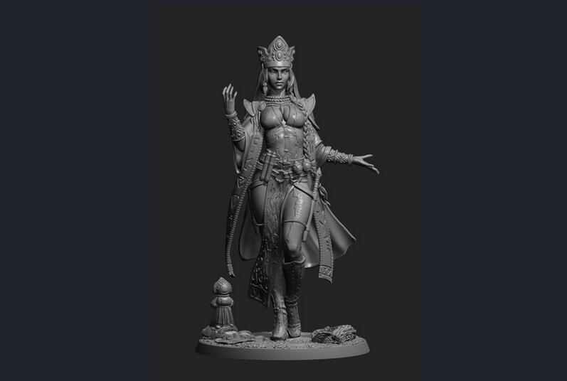 1/24 76mm Ancient Woman Warrior Stand (WITH BASE ) Resin Figure Model Kits Miniature Gk Unassembly Unpainted