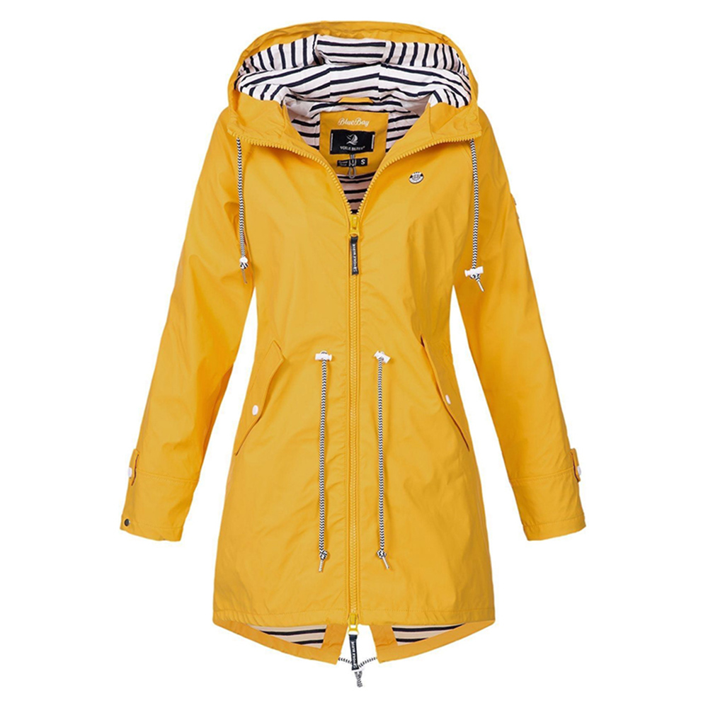 Plus Size Womens Waterproof Jacket Raincoat Hooded Raincoats Forest Coat UK