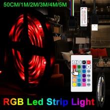 USB Strip LED Light RGB Tiras Decoracion Lamp Desktop Screen TV Waterproof Flexible Tape 50CM 1M 2M 3M 4M 5M