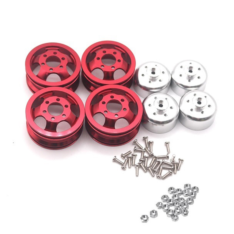 Upgrade Metal <font><b>Wheel</b></font> Rim Kit <font><b>Wheel</b></font> Hub for WPL B1 B-1 B14 B-14 B16 B-16 B24 B-24 C14 C-14 B36 with Screws <font><b>RC</b></font> Truck <font><b>RC</b></font> Car Parts,R image