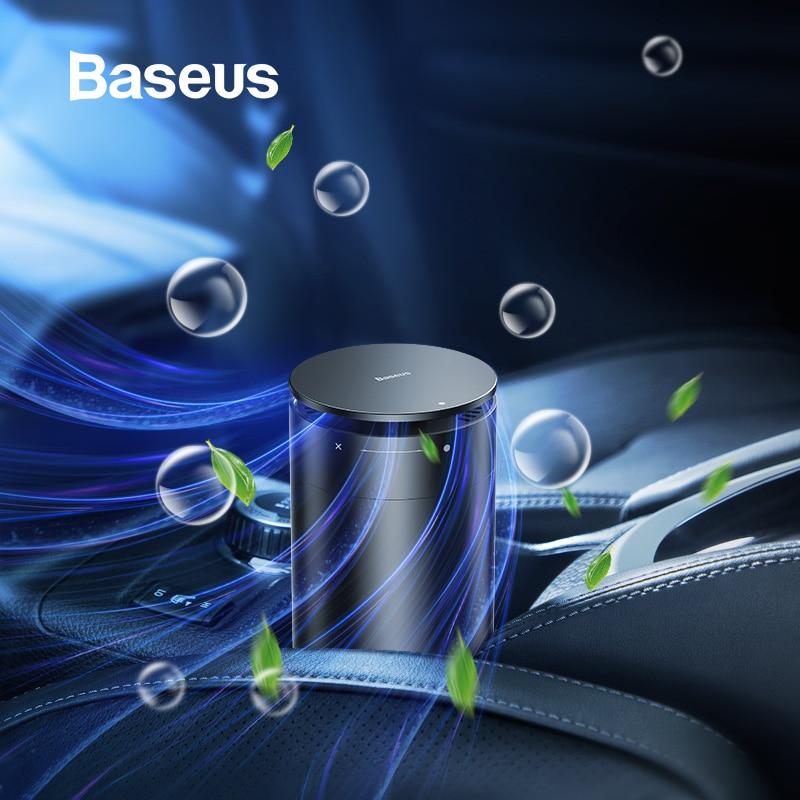 Baseus Car Air Purifier Freshener Vehicle Ions Formaldehyde Air Cleaner Auto Diffuser Solid Car Perfume