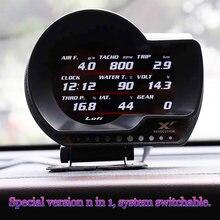 LUFI XF OBD samochodowy wyświetlacz Head Up cyfrowy wskaźnik doładowania cyfrowy turbo Boost ciśnienie oleju wskaźnik temperatury dla samochodu Afr RPM paliwa