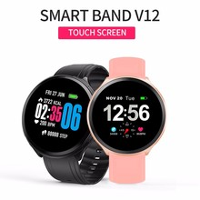 New V12 Smart Watch Women Men Bluetooth Waterproof Wristband Fitness Tracker Heart Rate Monitor Smartwatch For IOS Android