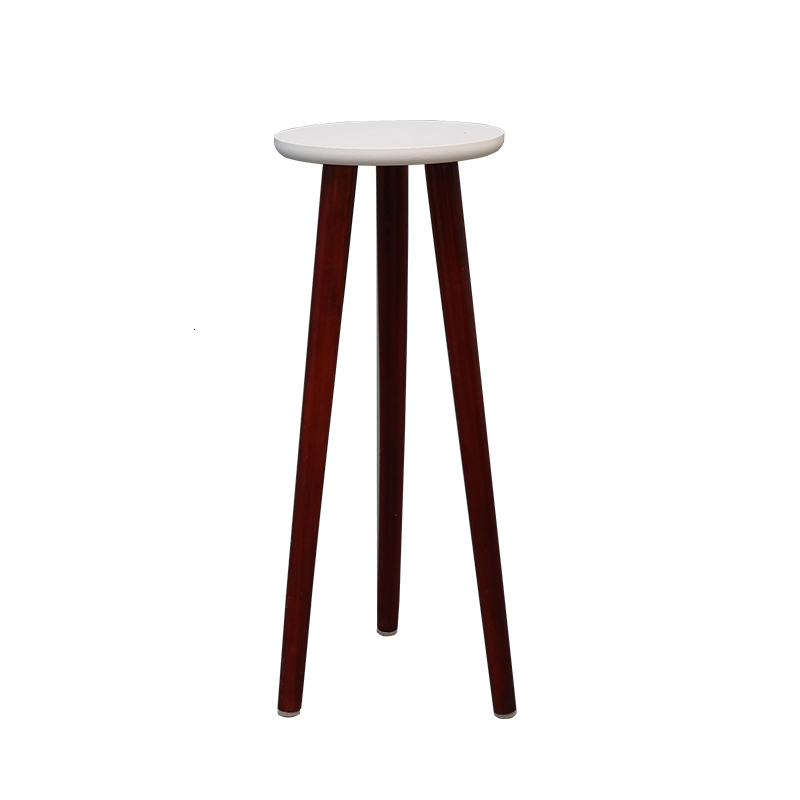 Frame Flower Stand Single To Ground Solid Wood Balcony Meaty Household Indoor Northern Europe Small Round Table Flower Airs