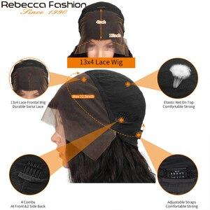 Image 5 - レベッカ150% 変態カーリー人間の髪は女性13X4人毛かつら変態カーリーレースのフロント人間の髪かつら8に30インチ