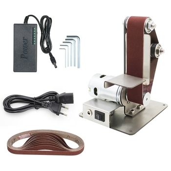 Diy Electric Mini Belt Sander Fixed-Angle Sharpener Table Cutting Edge Machine Angle Grinder To Belt Sander Wood Metal Working-7