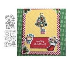 Детские металлические Вырубные штампы и резиновые с рождественскими