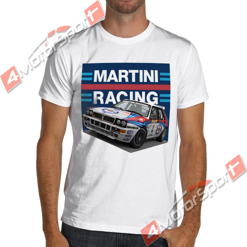 Lancia Delta Hf Integrale Rally Martini Racing T Shirt Evo Wrc Unisex Racing Tee Size S-3Xl