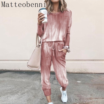 women outfit 2019 two piece set clothes top and pants spring autumn ladies tracksuits korean style plus size fashion lounge wear Fashion Pink Loose Tracksuits Lounge Wear Women Casual Two Piece Set autumn Street Tops and Jogger Suits 2pcs Outfits plus size