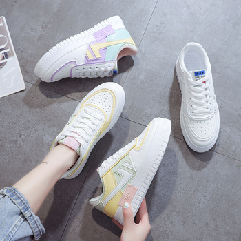 Summer New Women Sneakers Fashion Female 2020 Lace Up Shoes Casual Walking Running Sneakers Women Chaussures Femmes Canvas Shoes cozulma women candy color breathable canvas shoes lace up fashion sneakers female non slip casual shoes size 35 40