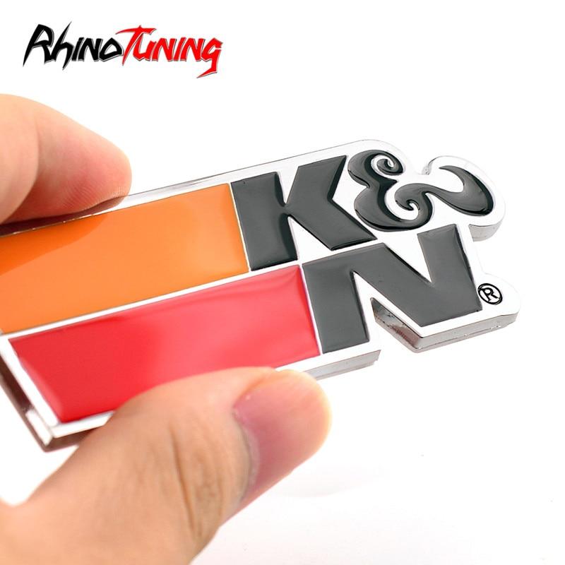 KN Filters Sticker Car Metal Label Badge Accessories For HB20 Ka Onix Palio Gol 094 Side Plate Emblem